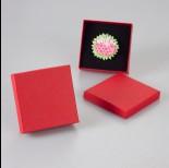 Zdjęcie - Bordowe pudełko 9x9cm