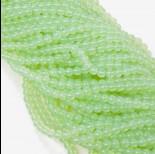 Zdjęcie - Koraliki szklane pistacjowe 6mm