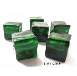 Zdjęcie - Szkło weneckie kostka zielona 8mm