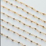 Zdjęcie - Łańcuch srebrny ag925 pozłacany z pirytem fasetowanym 2x1.5mm