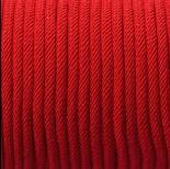 Zdjęcie - Sznurek pleciony 4mm intensywna czerwień