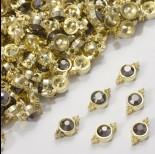 Zdjęcie - Przekładka z kryształkiem koloru złotego hematite  10mm