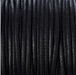 Zdjęcie - Sznurek bawełniany woskowany czarny 1,5mm