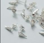 Zdjęcie - Kolczyki skrzydła ażurowe ag925 srebrny