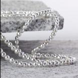 Zdjęcie - Hematyt kulka fasetowana platerowana white silver 4mm