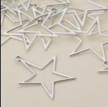 Zdjęcie - Zawieszka gwiazda wycięta satynowa 40 mm