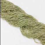 Zdjęcie - Cyrkonia kulka fasetowana zielona 2mm