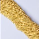 Zdjęcie - Cyrkonia cytrynowa kula fasetowana 3.3mm