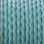 Zdjęcie - Rzemień pleciony błękitny 4mm