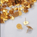 Zdjęcie - Sztyfty z talerzykiem do naklejania i podwieszania ze stali chirurgicznej 10mm