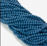 Zdjęcie - Koraliki szklane powlekane modre 6mm