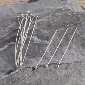 Zdjęcie - Szpilki srebrne talerzyki 5cm, Ag925