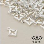 Zdjęcie - Zawieszka lilijka w srebrnym kolorze 11mm