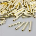 Zdjęcie - Proste rurki w złotym kolorze 25x4mm