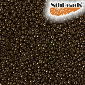 Zdjęcie - Koraliki NihBeads 12/0 Metallic Plate Brown