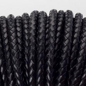 Zdjęcie - Rzemień naturalny pleciony lakierowany 5mm czarny