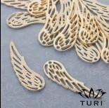 Zdjęcie - Zawieszka anielskie skrzydło ażurowe w złotym kolorze 59.5x19.5mm