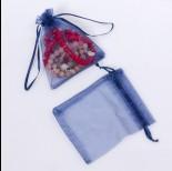Zdjęcie - Woreczek z organzy do biżuterii 10x12cm niebieski