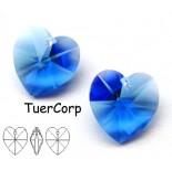 Zdjęcie - Swarovski heart 14mm sapphire