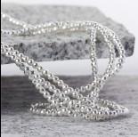 Zdjęcie - Hematyt kulka fasetowana platerowana white silver 3mm