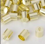 Zdjęcie - Końcówki do rzemieni light gold 9,5mm