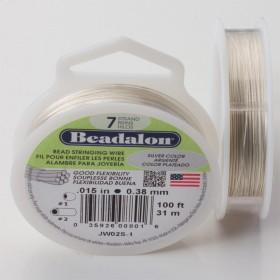 Zdjęcie - Linka stalowa Beadalon siedmiostrunowa 31m, 0.38mm silver