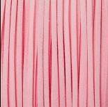 Zdjęcie - Rzemień zamszowy płaski pastelowo różowy 1x2.5mm