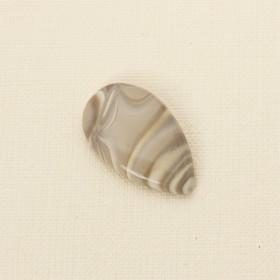 Zdjęcie - Krzemień pasiasty kaboszon łezka 37x22 mm