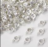Zdjęcie - Przekładka z kryształkiem koloru srebrnego crystal  10mm