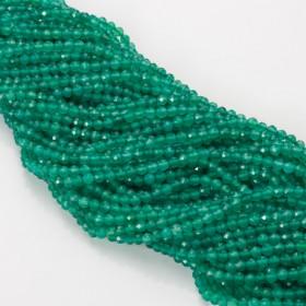Zdjęcie - Agat zielony kulka fasetowana 4mm