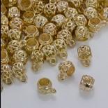 Zdjęcie - Krawatka z pacyfką do rzemieni w złotym kolorze 10mm