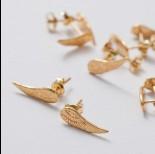 Zdjęcie - Kolczyki skrzydła pełne ag925 złoty