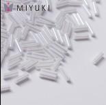 Zdjęcie - Koraliki Miyuki Bugles #2 6 mm White Ceylon