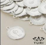 Zdjęcie - Zawieszka moneta Królowa Elżbieta 2 w srebrnym kolorze 19.5mm