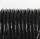 Zdjęcie - Rzemień naturalny lakierowany czarny 5mm