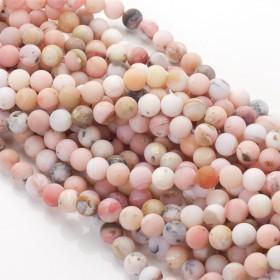 Zdjęcie - Opal różowy matowy kulka gładka 8mm