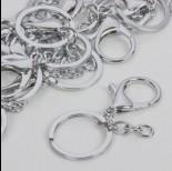 Zdjęcie - Baza breloczka w srebrnym kolorze