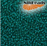 Zdjęcie - Koraliki NihBeads 12/0 Inside-Color Teal Green/ White Line
