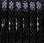Zdjęcie - Rzemień klejony czarny błyszczący 10.5x5mm