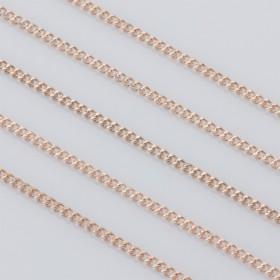 Zdjęcie - Łańcuszek pancerka powlekany 1.9x2.5mm różowe złoto