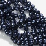Zdjęcie - Kryształki kulki blue hematite 6mm