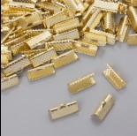Zdjęcie - Końcówki zaciskowe szczęki w złotym kolorze 16x6mm