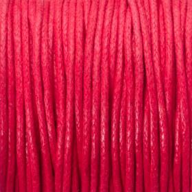 Zdjęcie - Sznurek bawełniany woskowany 1.5mm czerwony