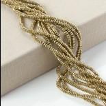 Zdjęcie - Hematyt oponka fasetowana platerowana złota 4x2mm