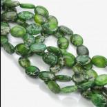 Zdjęcie - Jaspis cesarski owal zielony 18x13mm