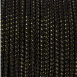 Zdjęcie - Sznurek czarny skręcany z ze złotą nicią 3mm