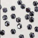 Zdjęcie - 5060 Hexagon Spike bead jet hematite 7.5mm