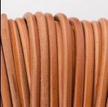 Zdjęcie - Rzemień naturalny okrągły 5mm jasny brąz