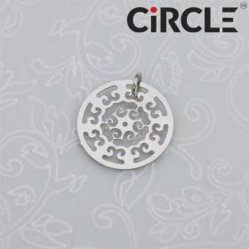 Zdjęcie - Zawieszka okrągła mandala cieme srebro z kółeczkiem 16mm