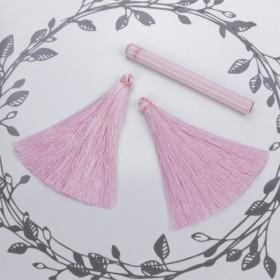 Zdjęcie - Chwost z wiskozy pudrowy róż 10cm